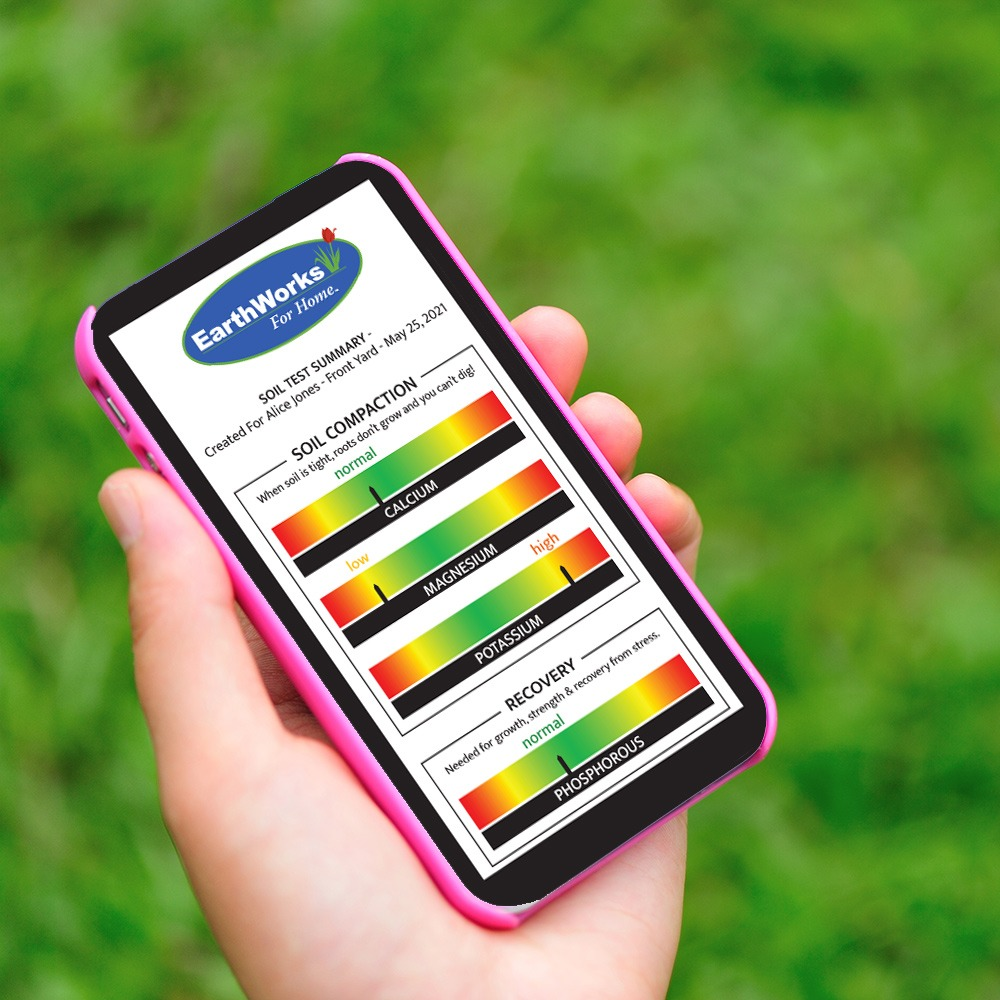 EW4H Soil Test Report on Mobile Phone